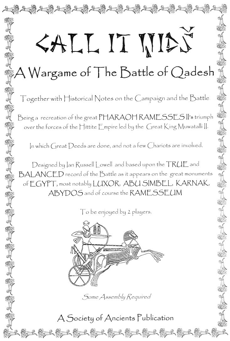 Front cover of the Call It Qids rules booklet